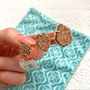 Kendra Scott Naomi Ring in Rose Gold Drusy